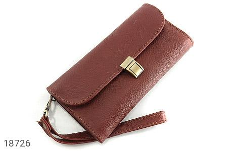 کیف چرم طبیعی دستی شیک و زیبا قهوه ای - عکس 1