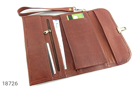 کیف چرم طبیعی دستی شیک و زیبا قهوه ای - تصویر 2