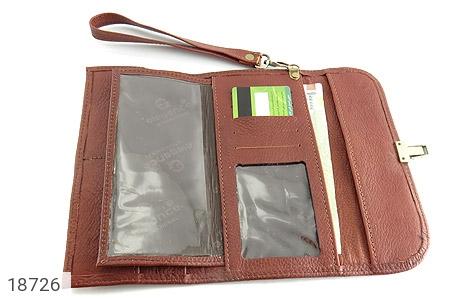 کیف چرم طبیعی دستی شیک و زیبا قهوه ای - عکس 3