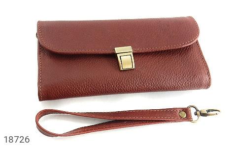 کیف چرم طبیعی دستی شیک و زیبا قهوه ای - تصویر 4