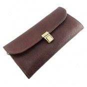 کیف چرم طبیعی دستی رنگ تیره و شیک