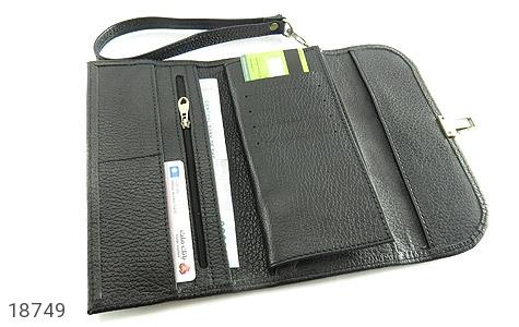 کیف چرم طبیعی دستی شیک و زیبا مشکی - تصویر 4