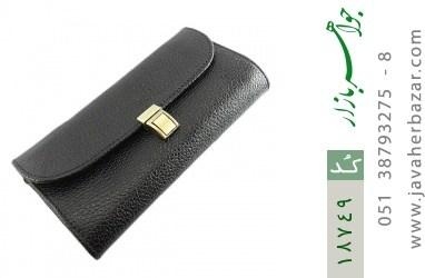 کیف چرم طبیعی دستی شیک و زیبا مشکی - کد 18749
