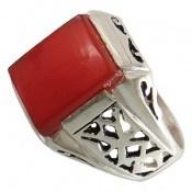 انگشتر عقیق قرمز طرح آریو مردانه