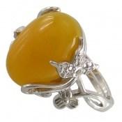 انگشتر عقیق زرد شرف الشمس فری سایز و باشکوه زنانه
