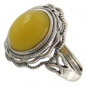 انگشتر عقیق زرد شرف الشمس فری سایز طرح مهگل زنانه