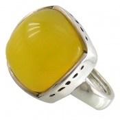 انگشتر عقیق زرد شرف الشمس فری سایز طرح کلاسیک زنانه
