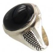 انگشتر عقیق سیاه طرح رادمهر مردانه