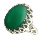 انگشتر عقیق سبز دورچنگ طرح سلطان مردانه