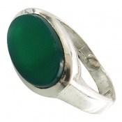 انگشتر عقیق سبز صفوی طرح پاشا مردانه