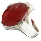 انگشتر عقیق قرمز چهارچنگ مردانه