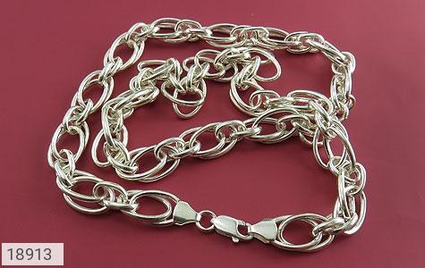 زنجیر نقره 55 سانتی طرح حلقه ای درشت و باشکوه - عکس 1