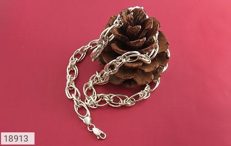 زنجیر نقره 55 سانتی طرح حلقه ای درشت و باشکوه - عکس 3