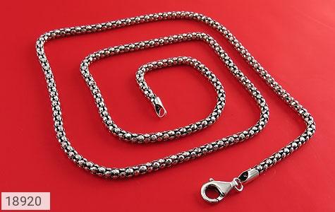 زنجیر نقره 56 سانتی طرح بافت درشت - عکس 1