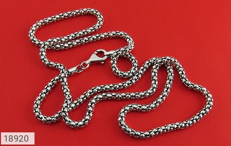 زنجیر نقره 56 سانتی طرح بافت درشت - تصویر 2