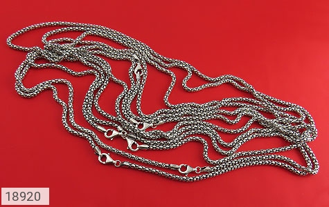 زنجیر نقره 56 سانتی طرح بافت درشت - عکس 3
