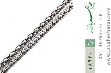 زنجیر نقره 56 سانتی طرح بافت درشت - کد 18920