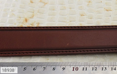کمربند چرم طبیعی قهوه ای روشن طرح کلاسیک مردانه - عکس 5