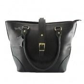 کیف چرم طبیعی مشکی مدل دستی بزرگ زنانه