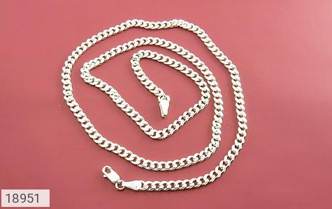 زنجیر نقره 60 سانتی طرح حلقه ای فاخر - عکس 1