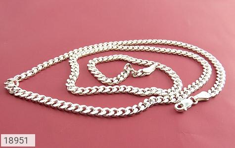 زنجیر نقره 60 سانتی طرح حلقه ای فاخر - تصویر 2