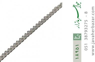 زنجیر نقره 60 سانتی طرح حلقه ای فاخر - کد 18951