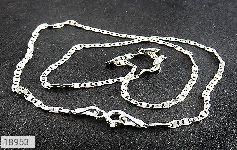 زنجیر نقره 40 سانتی طرح جدید و زیبا - تصویر 2