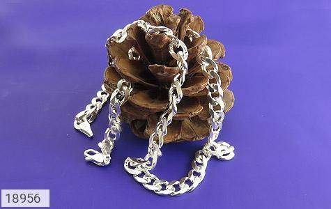 زنجیر نقره 60 سانتی فاخر و درشت - عکس 3