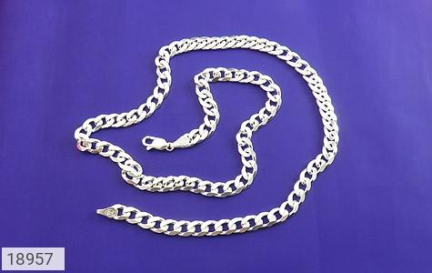 زنجیر نقره 57 سانتی باشکوه و فاخر - عکس 1