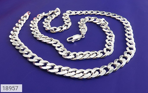 زنجیر نقره 57 سانتی باشکوه و فاخر - تصویر 2