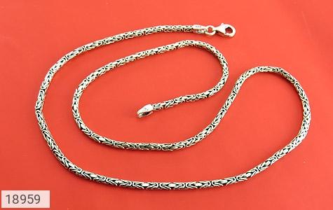 زنجیر نقره 55 سانتی طرح ماری زیبا - عکس 1