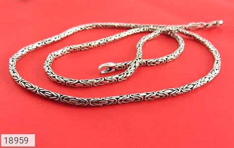 زنجیر نقره 55 سانتی طرح ماری زیبا - تصویر 2