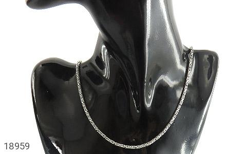 زنجیر نقره 55 سانتی طرح ماری زیبا - عکس 5