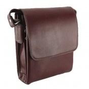 کیف چرم طبیعی قهوه ای مدل دوشی اسپرت