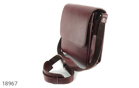 کیف چرم طبیعی قهوه ای مدل دوشی اسپرت - عکس 1