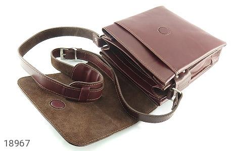کیف چرم طبیعی قهوه ای مدل دوشی اسپرت - عکس 3