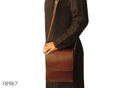 کیف چرم طبیعی قهوه ای مدل دوشی اسپرت - تصویر 8