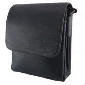 کیف چرم طبیعی مشکی طرح دوشی اسپرت