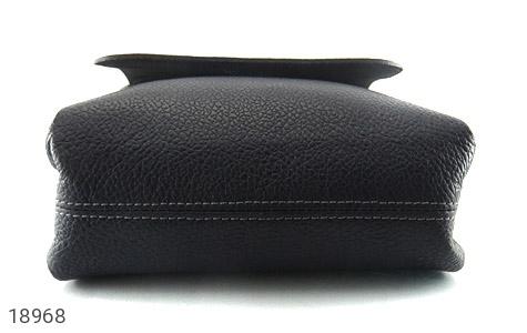 کیف چرم طبیعی مشکی طرح دوشی اسپرت - عکس 3