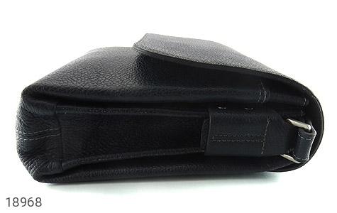 کیف چرم طبیعی مشکی طرح دوشی اسپرت - تصویر 4