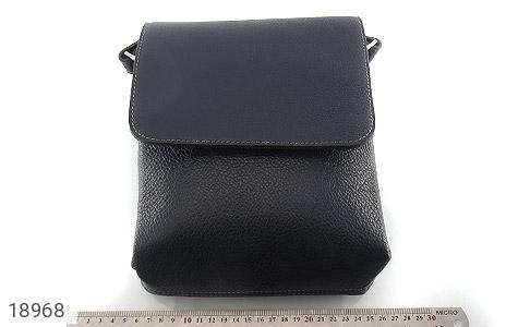 کیف چرم طبیعی مشکی طرح دوشی اسپرت - تصویر 6