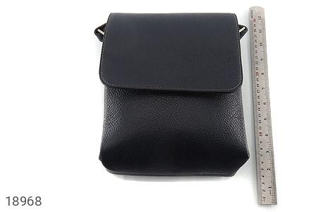 کیف چرم طبیعی مشکی طرح دوشی اسپرت - عکس 7