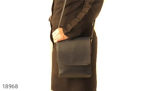 کیف چرم طبیعی مشکی طرح دوشی اسپرت - تصویر 8