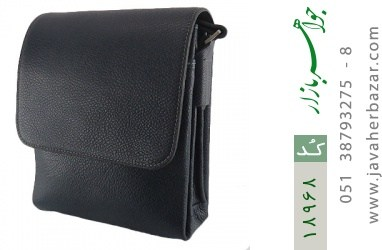 کیف چرم طبیعی مشکی طرح دوشی اسپرت - کد 18968