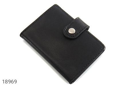 کیف چرم طبیعی مشکی کیف جاکارتی - عکس 1
