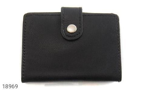 کیف چرم طبیعی مشکی کیف جاکارتی - تصویر 2