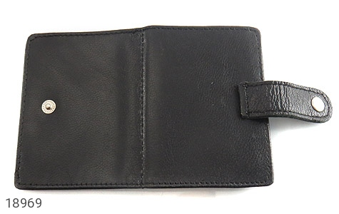 کیف چرم طبیعی مشکی کیف جاکارتی - تصویر 4