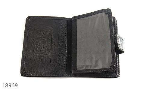 کیف چرم طبیعی مشکی کیف جاکارتی - عکس 5