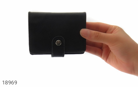 کیف چرم طبیعی مشکی کیف جاکارتی - تصویر 8