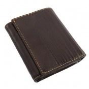 کیف چرم طبیعی قهوه ای تیره طرح جیبی